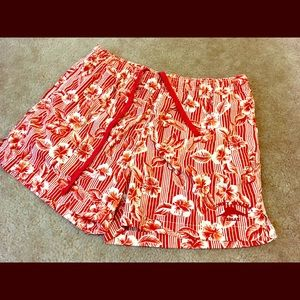 Tommy Bahama Red Floral Swim Shorts Size Large